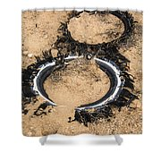 Decomposing Tires Shower Curtain