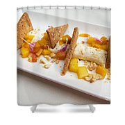 Deconstructed Cheesecake Shower Curtain