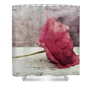 Decor Poppy Horizontal Shower Curtain by Priska Wettstein