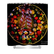 Decorated Wreath Shower Curtain