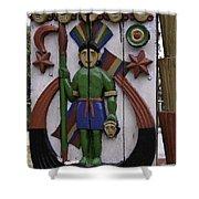 Decoration On Wooden Door In Lansdowne Shower Curtain