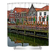 Decorations For Orange Day To Celebrate The Queen's Birthday In Enkhuizen-netherlands Shower Curtain
