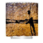 Decorative Abstract Giraffe Print Shower Curtain