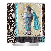 Decorative Bathroom Bath Art Original Perfume Bottle Painting Luxe Perfume By Madart Shower Curtain