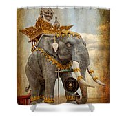 Decorative Elephant Shower Curtain by Adrian Evans
