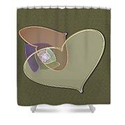 Decorative Heart Shower Curtain