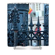 Decorative Iron Fence In New Orleans Shower Curtain