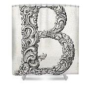 Decorative Letter Type B 1650 Shower Curtain
