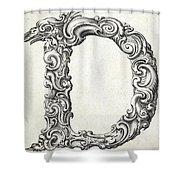 Decorative Letter Type D 1650 Shower Curtain