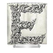 Decorative Letter Type E 1650 Shower Curtain