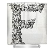 Decorative Letter Type F 1650 Shower Curtain