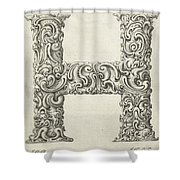 Decorative Letter Type H 1650 Shower Curtain
