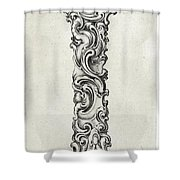 Decorative Letter Type I 1650 Shower Curtain