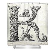Decorative Letter Type K 1650 Shower Curtain