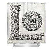 Decorative Letter Type L 1650 Shower Curtain