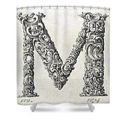 Decorative Letter Type M 1650 Shower Curtain