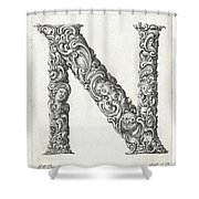 Decorative Letter Type N 1650 Shower Curtain