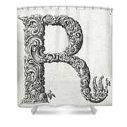 Decorative Letter Type R 1650 Shower Curtain