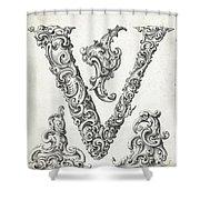 Decorative Letter Type V 1650 Shower Curtain