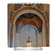 Decorative Light At The New York Public Library Shower Curtain