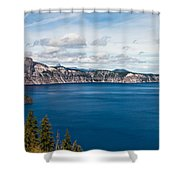 Deep Blue Crater Lake Shower Curtain