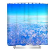 Deep Blue Sky And Clouds Shower Curtain
