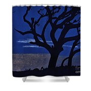 Deep - Blue - Sunset Shower Curtain