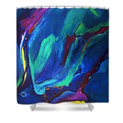 Deep Blue Thoughts Shower Curtain