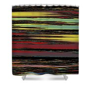 Deep Color Field Shower Curtain