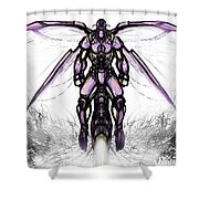 Deep Creek Hornet White Shower Curtain