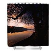 Deep Creek Sunrise Shower Curtain