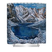Deep Dark  And Cold Shower Curtain
