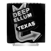 Deep Ellum Black And White Shower Curtain