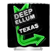 Deep Ellum In Green Shower Curtain