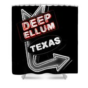 Deep Ellum In Red Shower Curtain