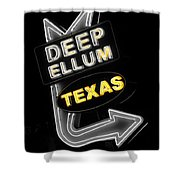 Deep Ellum In Yellow Shower Curtain