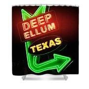 Deep Ellum Red Glow Shower Curtain