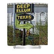 Deep Ellum Texas Shower Curtain