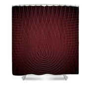Deep Red Fractal Background Shower Curtain
