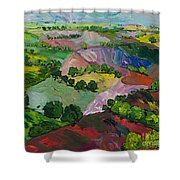 Deep Ridge Red Hill Shower Curtain