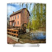 Deep River County Park Grist Mill Shower Curtain by Paul Velgos