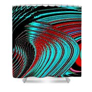 Deep Sea Abstract Shower Curtain