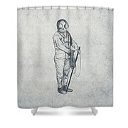 Deep Sea Diver - Nautical Design Shower Curtain by World Art Prints And Designs