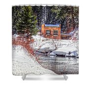 Deep Snow In Spearfish Canyon Shower Curtain