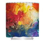 Deep Space Canvas One Shower Curtain