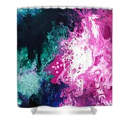 Deep Space Canvas Three Shower Curtain