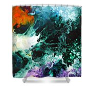 Deep Space Canvas Two Shower Curtain