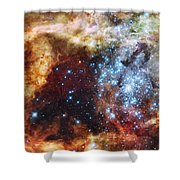 Deep Space Fire And Ice  Shower Curtain