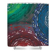 Deepen Abstract Shapes Shower Curtain