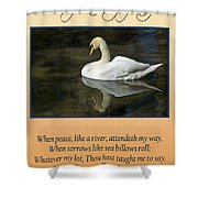 Deepest Sympathy Card Shower Curtain